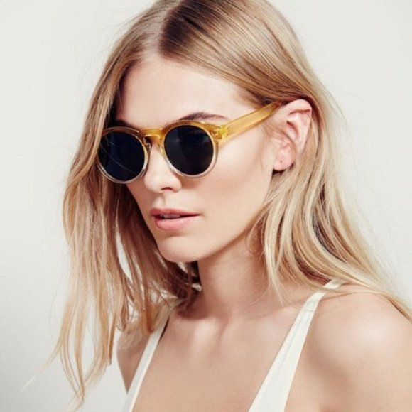 Free People Accessories - FREE PEOPLE Dixie Two Tone Yellow Sunglasses NWT!